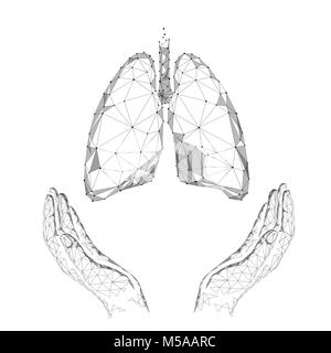 human lungs with tuberculosis illustration stock vector