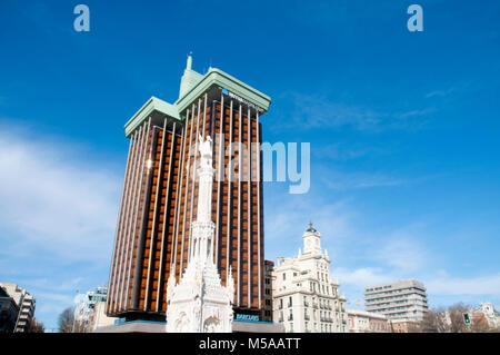 Colon Square. Madrid, Spain. - Stock Photo