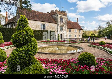 Ightham Mote house in Kent, England - Stock Photo