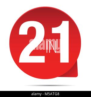 Two in One red label - Stock Photo
