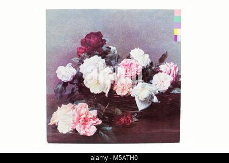 New Order Power Corruption Lies LP music vinyl album cover art - Stock Photo