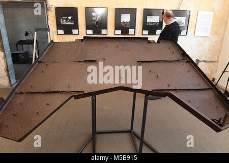 20 February 2018, Germany, Peenemuende: The special exhibition at the power plant of the former army testing facility - Stock Photo