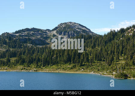 Rainbow Lake, a subalpine lake in the Coast Mountains, popular for hiking and camping, above the town of Whistler, - Stock Photo