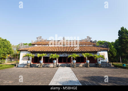 Hung Mieu Temple inside the To Mieu Temple Complex, Imperial City of Hue, Vietnam - Stock Photo