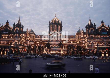 VT Station on 150 years of Completion, Mumbai, Maharashtra, India - Stock Photo