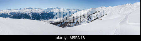 Ski area Strela Alp, Jacobshorn on the other side of the valley - Stock Photo