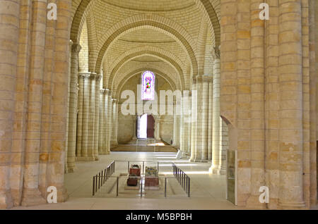 Beautiful Fontevraud Abbey with the tombs of King Henry II, King Richard the Lionheart and Queen Eleanor - Stock Photo