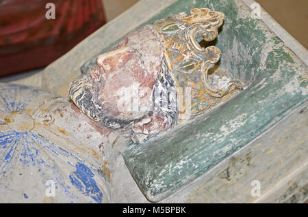 The 800 year old tomb of King Richard the Lionheart - Stock Photo