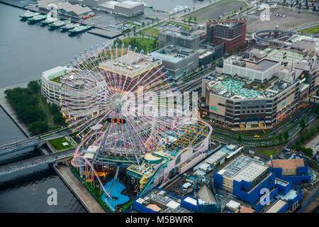 Aerial view of beautiful Yokohama cityscape - Stock Photo