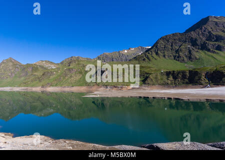 lake Ritom in canton ticino Piora valley with natural mountains - Stock Photo
