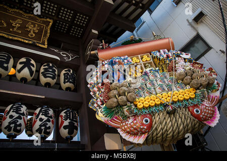 The Tori-No-Ichi Festival for good fortune at the Otori Shrine in Asakusa, Tokyo - Stock Photo
