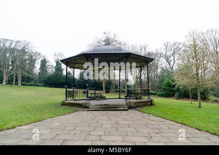 A Bandstand in Saltwell Park, Gateshead, in Winter - Stock Photo