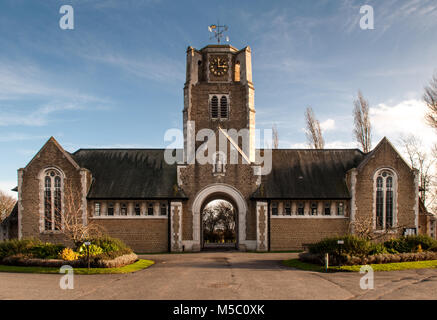 London, England, UK - January 27, 2013: The gothic mortuary chapel of Camberwell New Cemetery stands in Honor Oak - Stock Photo