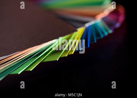 different  colorful papers - Stock Photo