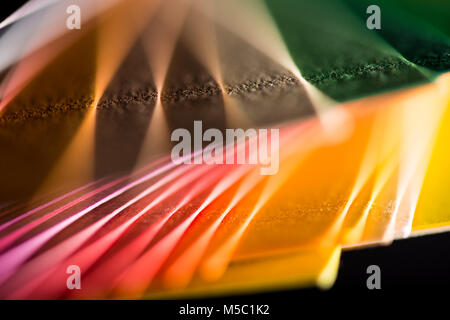 various colorful papers - Stock Photo
