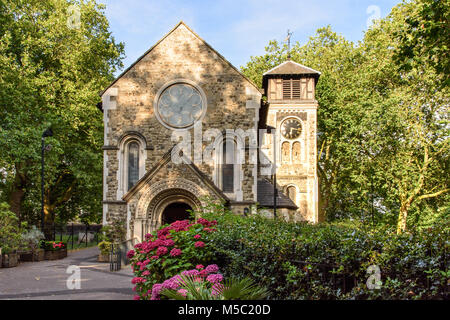 London, England - July 25, 2016: St Pancras Old Church in Camden, north London. - Stock Photo