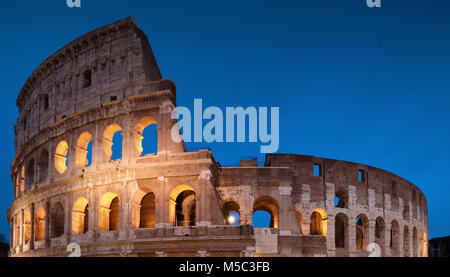 Colosseum Night View in Rome, Italy - Stock Photo