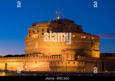 Rome Sant' Angelo Castle by night