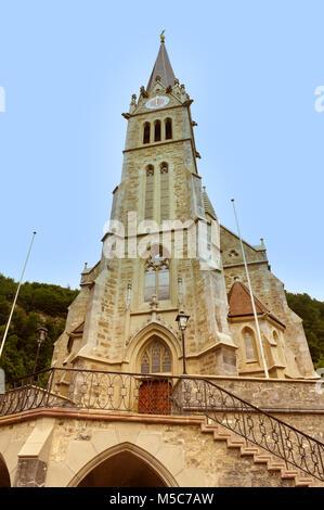 Cathedral of St. Florin in Vaduz, Liechtenstein. - Stock Photo