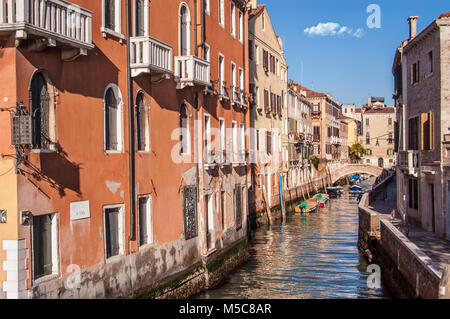 Venice,Canal in Fondamenta Zattere allo Spirito Santo - Stock Photo