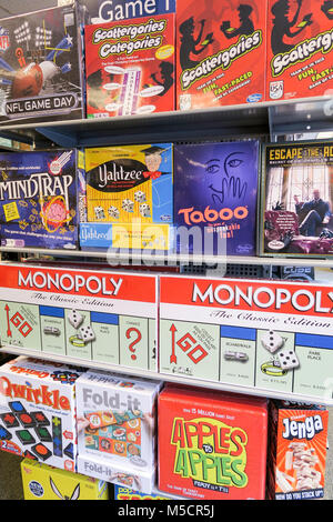 Games in Barnes & Noble Bookstore on Fifth Avenue, NYC, USA - Stock Photo