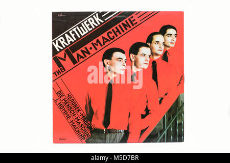 Kraftwerk The Man Machine LP music vinyl album cover art - Stock Photo