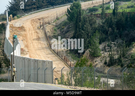 Misgav Am, Israel. 21st February, 2018. Kibbutz Misgav Am, with a population of about 300, situated in the Upper - Stock Photo