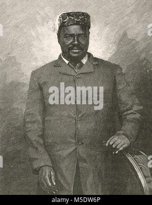 Cetshwayo kaMpande, king of the Zulu Kingdom from 1873 to 1879 - Stock Photo