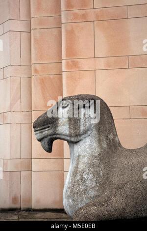 WA13602-00...WASHINGTON - Replica of a Ming-era Chinese Camel guarding the doors of the Asian Art Museum located - Stock Photo