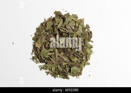 Remedial plant, dryly, plant parts, remedial plants, Schafgarbe, herb, herbs, tea, tea herbs, Spitzwegerich - Stock Photo
