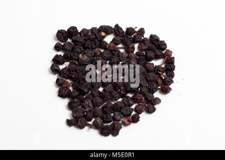 Remedial plant, dryly, plant parts, remedial plants, blueberrys, black, berries - Stock Photo