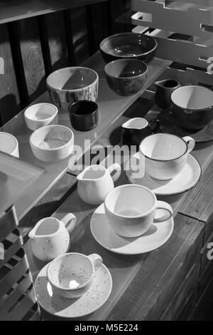 wood, espresso, morning, coffee, white, cup, a cup, tree, box, kitchen, black and white, retro, kitchen tools - Stock Photo