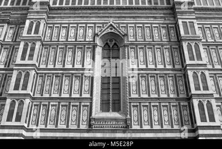FLORENCE DUOMO WINDOW IN NEO GOTHIC STYLE - Stock Photo
