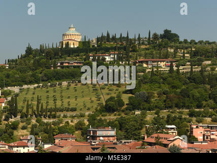 Shrine of Our Lady of Lourdes Santuario della Madonna di Lourdes, Verona, Italy - Stock Photo