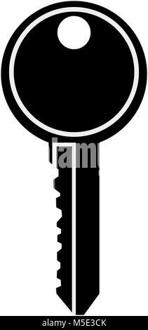 Key door isolated - Stock Photo