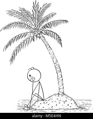 Cartoon Businessman Sitting Sad On Ground And Over