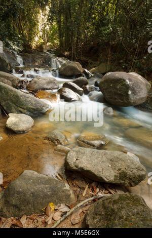 Beautiful Krathing waterfall in Khao Khitchakut National Park Chanthaburi Province, Thailand. - Stock Photo