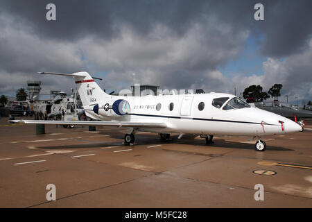 MIRAMAR, CALIFORNIA, USA - OCT 15, 2006: US Air Force Raytheon T-1A Jayhawk VIP jet aircraft on display at the MCAS - Stock Photo