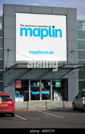 Maplin electronics store in northern ireland uk - Stock Photo