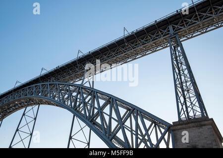 Maria Pia Bridge, Porto, Portugal - Stock Photo