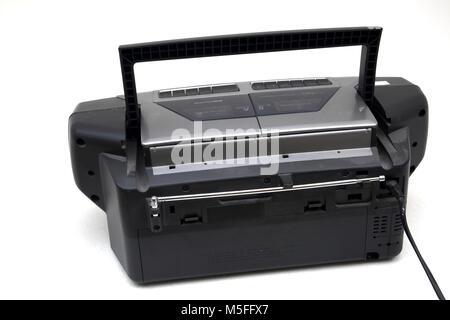 Sanyo Portable CD Radio Cassette Recorder - Stock Photo