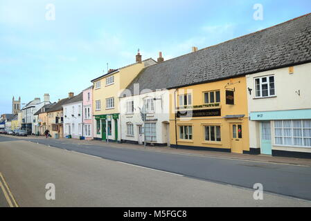 Market town of Honiton in East Devon famous by antique shops - Stock Photo