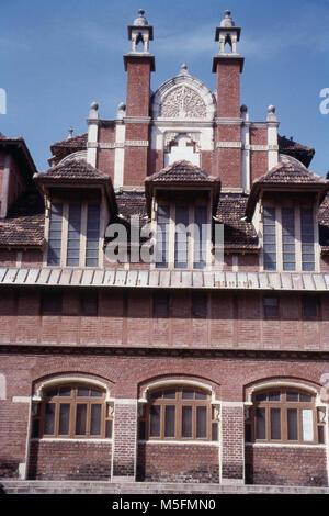 View of museum building in Kamati Baug, Vadodara, India - Stock Photo