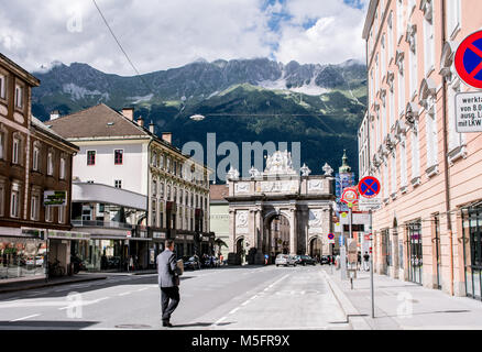 A day in Innsbruck - Stock Photo