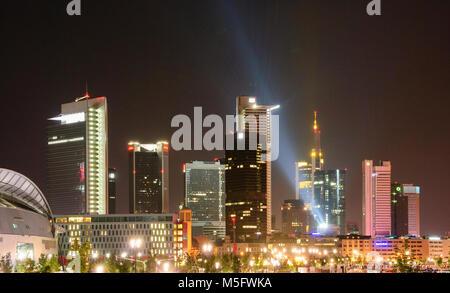 Skyline von Europa Allee, Frankfurt, Hessen, Deutschland, Europa - Stock Photo