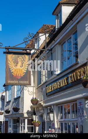 The Phoenix Tavern, a pub, food and music venue on Abbey Street, Faversham, Kent - Stock Photo