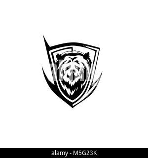 black bear icon vector illutration - Stock Photo
