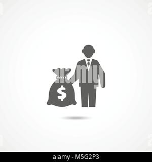 Investor icon on white - Stock Photo