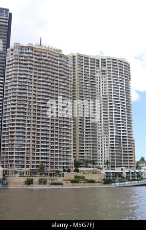 River Place Apartments, Brisbane, Australia - Stock Photo