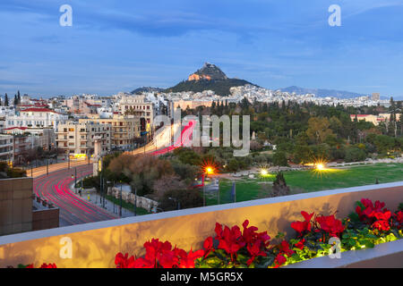 Mount Lycabettus in Athens, Greece - Stock Photo